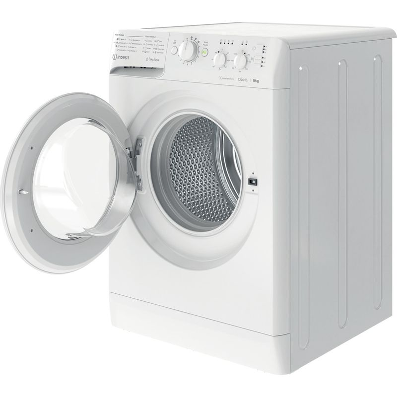 Indesit-Washing-machine-Free-standing-MTWC-91283-W-UK-White-Front-loader-D-Perspective-open