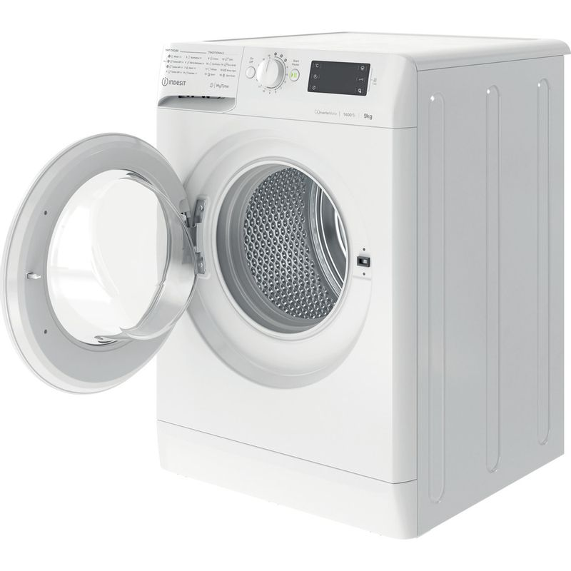 Indesit-Washing-machine-Free-standing-MTWE-91483-W-UK-White-Front-loader-D-Perspective-open