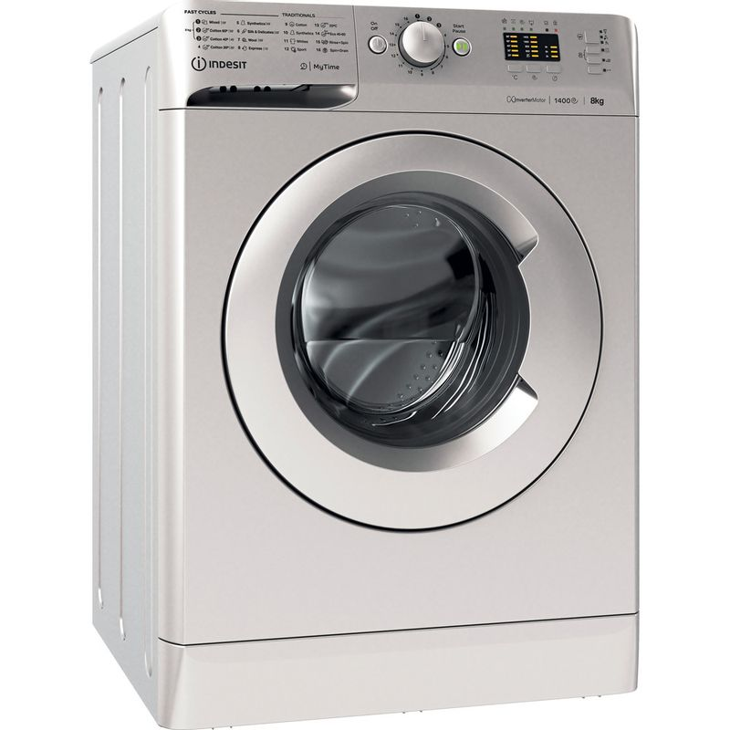 Indesit-Washing-machine-Free-standing-MTWA-81483-S-UK-Silver-Front-loader-D-Perspective