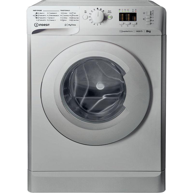 Indesit-Washing-machine-Free-standing-MTWA-81483-S-UK-Silver-Front-loader-D-Frontal