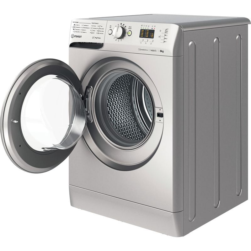Indesit-Washing-machine-Free-standing-MTWA-81483-S-UK-Silver-Front-loader-D-Perspective-open