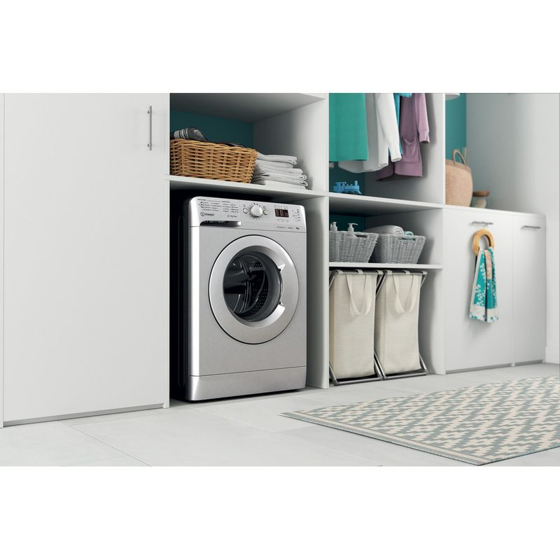 Indesit-Washing-machine-Free-standing-MTWA-81483-S-UK-Silver-Front-loader-D-Lifestyle-perspective