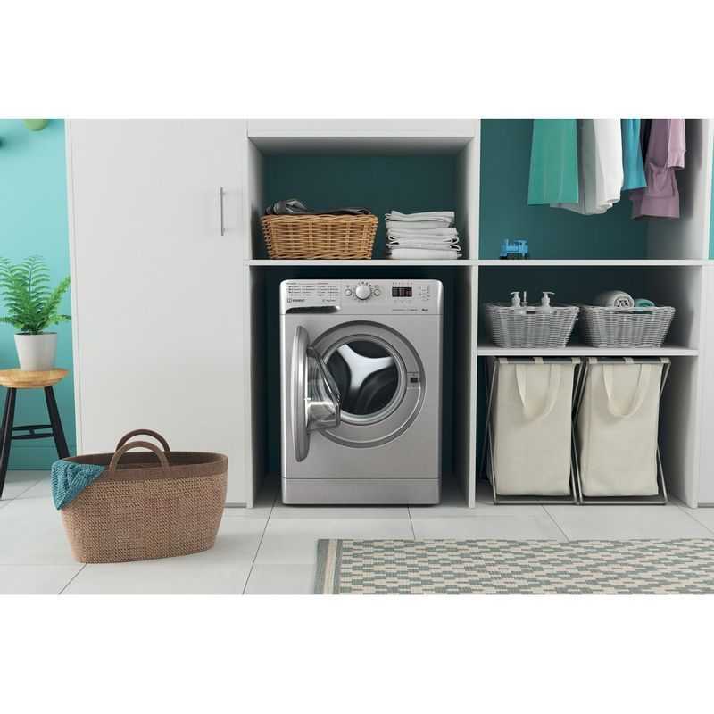 Indesit-Washing-machine-Free-standing-MTWA-81483-S-UK-Silver-Front-loader-D-Lifestyle-frontal-open
