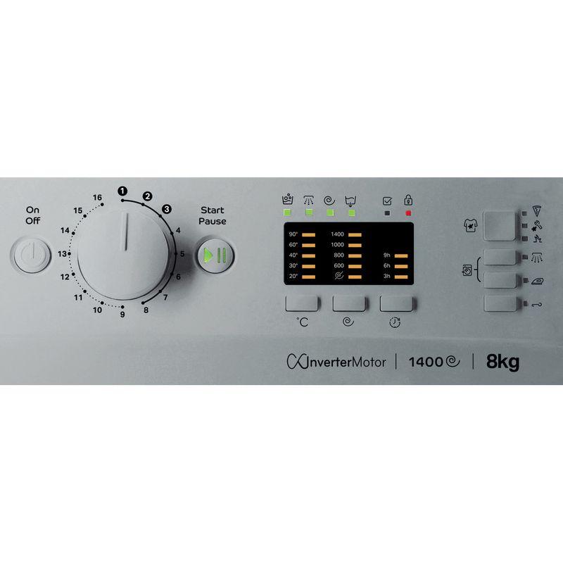 Indesit-Washing-machine-Free-standing-MTWA-81483-S-UK-Silver-Front-loader-D-Control-panel