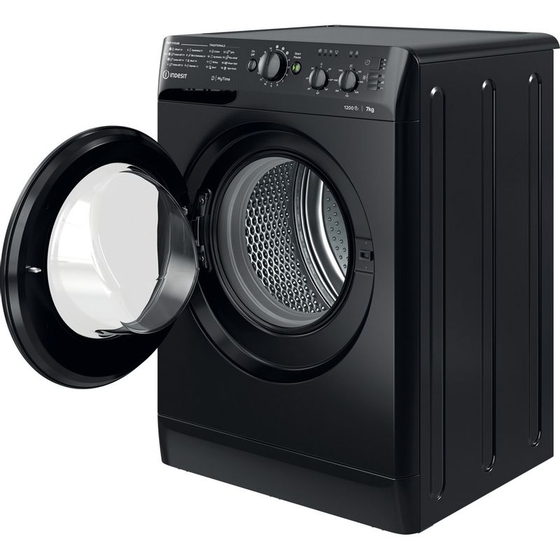 Indesit-Washing-machine-Free-standing-MTWC-71252-K-UK-Black-Front-loader-E-Perspective-open