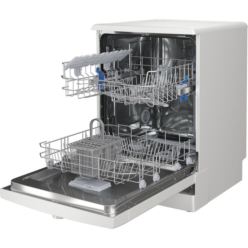 Indesit-Dishwasher-Free-standing-DFE-1B19-UK-Free-standing-F-Perspective-open