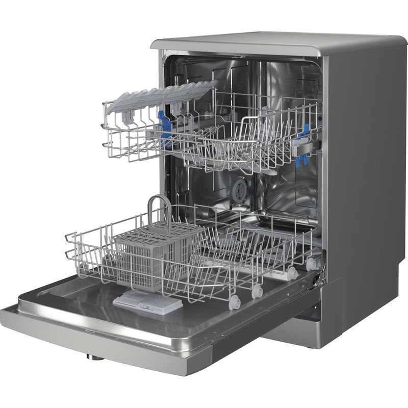 Indesit-Dishwasher-Free-standing-DFE-1B19-X-UK-Free-standing-F-Perspective-open