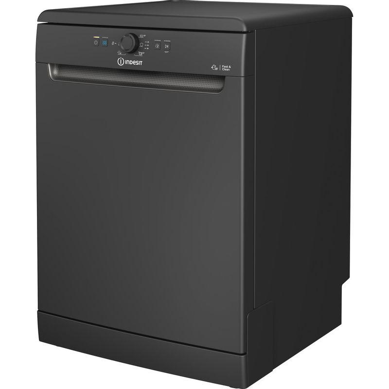 Indesit-Dishwasher-Free-standing-DFE-1B19-B-UK-Free-standing-F-Perspective