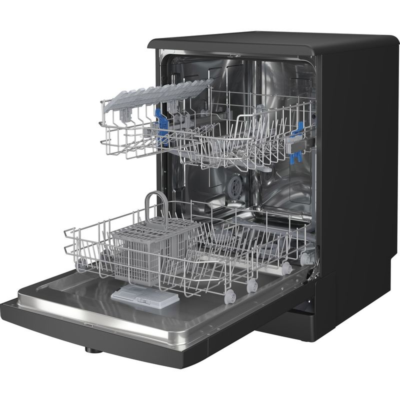 Indesit-Dishwasher-Free-standing-DFE-1B19-B-UK-Free-standing-F-Perspective-open