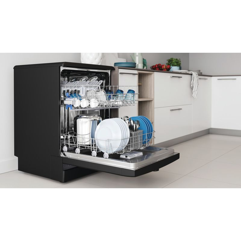 Indesit-Dishwasher-Free-standing-DFE-1B19-B-UK-Free-standing-F-Lifestyle-perspective-open