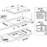 Indesit-HOB-IS-83Q60-NE-Black-Induction-vitroceramic-Technical-drawing