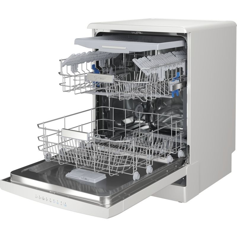 Indesit-Dishwasher-Free-standing-DFO-3T133-F-UK-Free-standing-D-Perspective-open