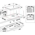 Indesit-HOB-ING-61T-BK-UK-Black-GAS-Technical-drawing
