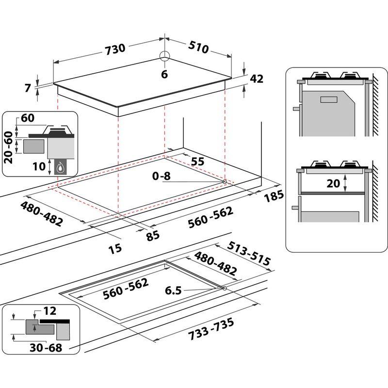 Indesit-HOB-ING-72T-BK-Black-GAS-Technical-drawing