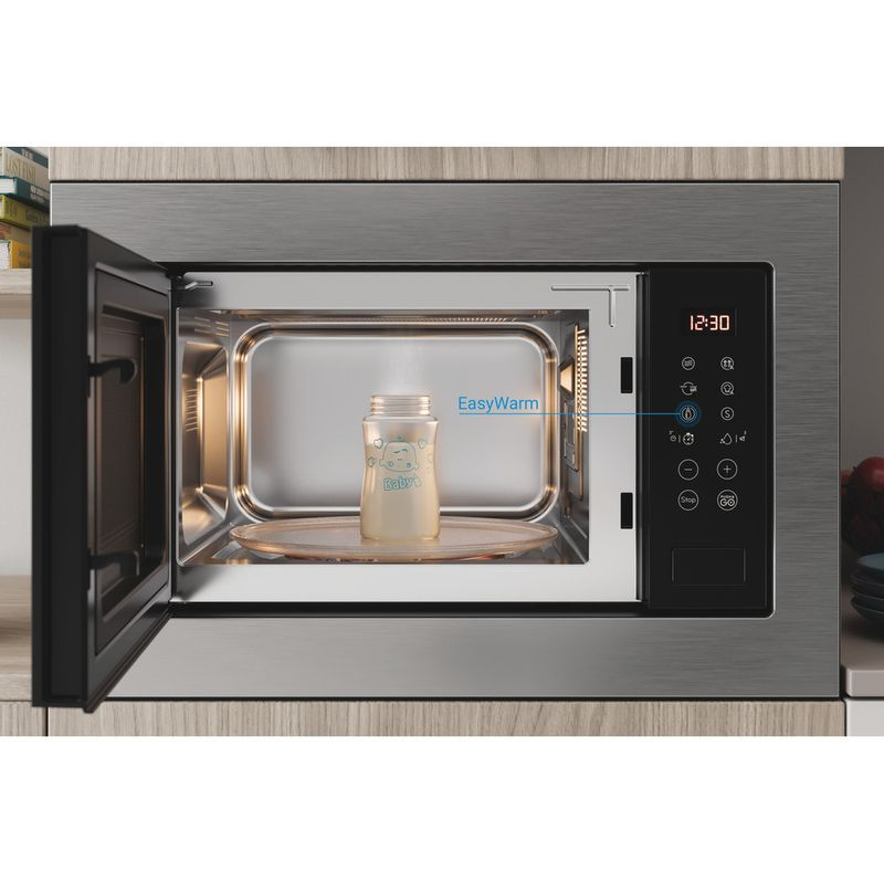 Indesit-Microwave-Built-in-MWI-125-GX-UK-Stainless-steel-Electronic-25-MW-Grill-function-900-Lifestyle-frontal-open