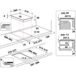 Indesit-HOB-IS-19Q30-NE-Black-Induction-vitroceramic-Technical-drawing