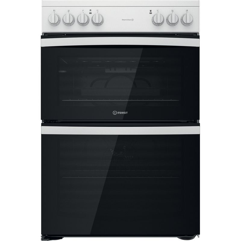 Indesit-Double-Cooker-ID67V9KMW-UK-White-A-Frontal