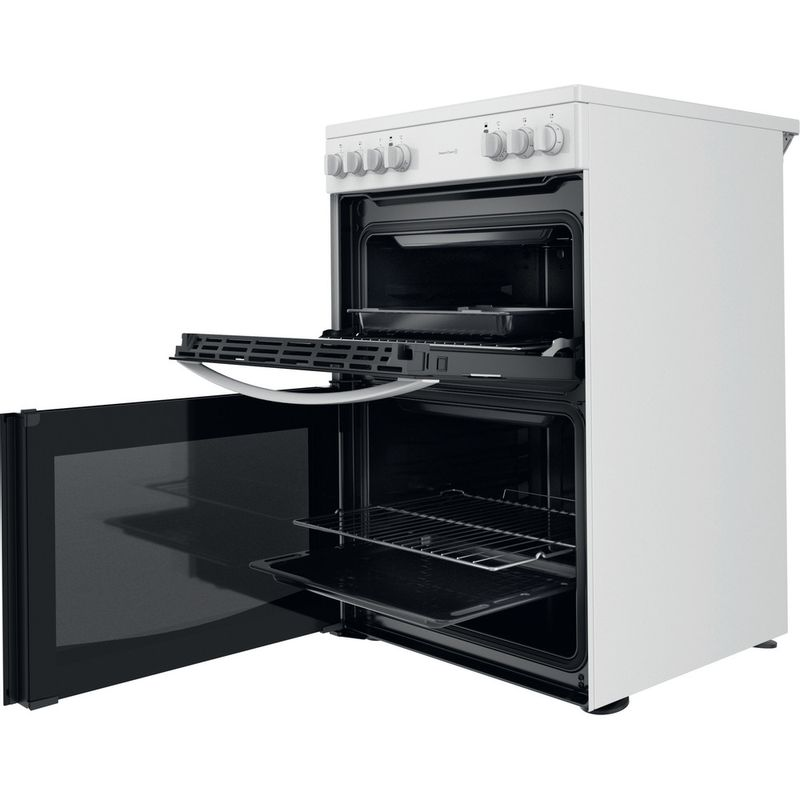 Indesit-Double-Cooker-ID67V9KMW-UK-White-A-Perspective-open