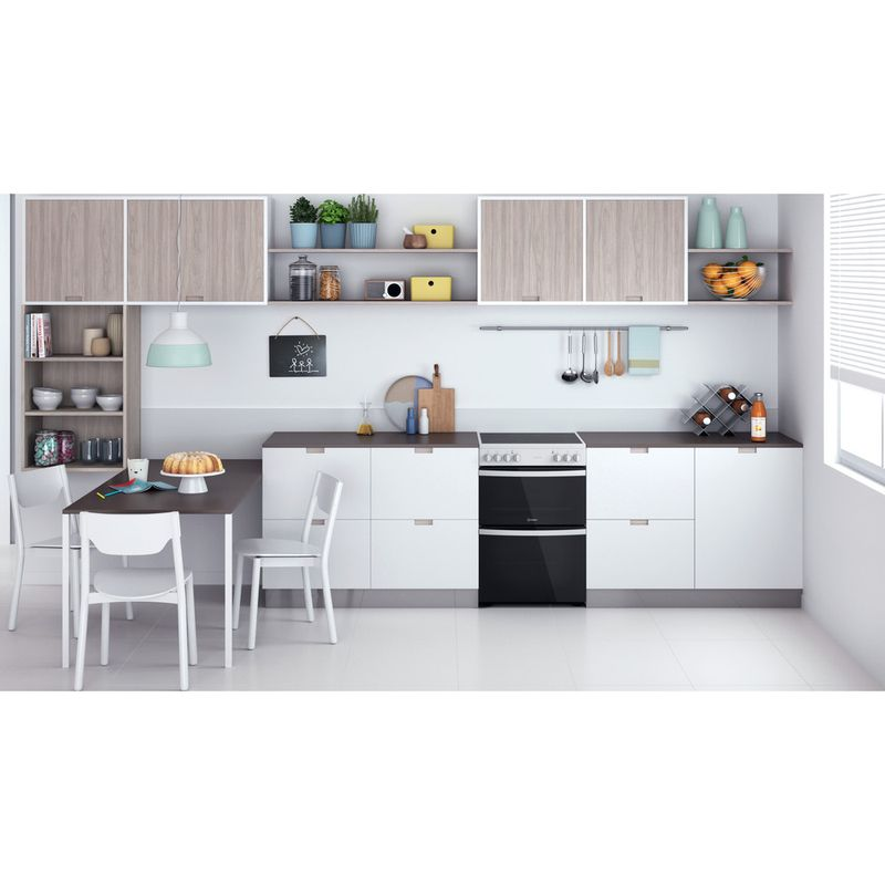 Indesit-Double-Cooker-ID67V9KMW-UK-White-A-Lifestyle-frontal