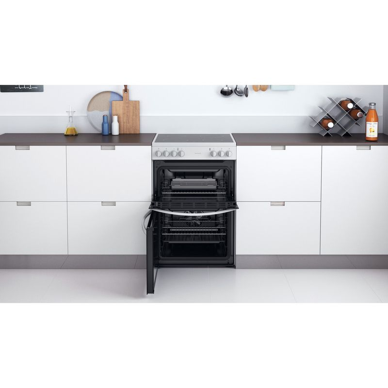 Indesit-Double-Cooker-ID67V9KMW-UK-White-A-Lifestyle-frontal-open