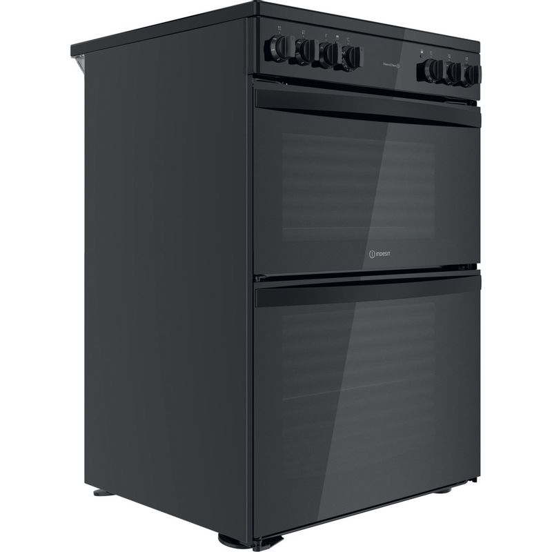 Indesit-Double-Cooker-ID67V9KMB-UK-Black-A-Perspective