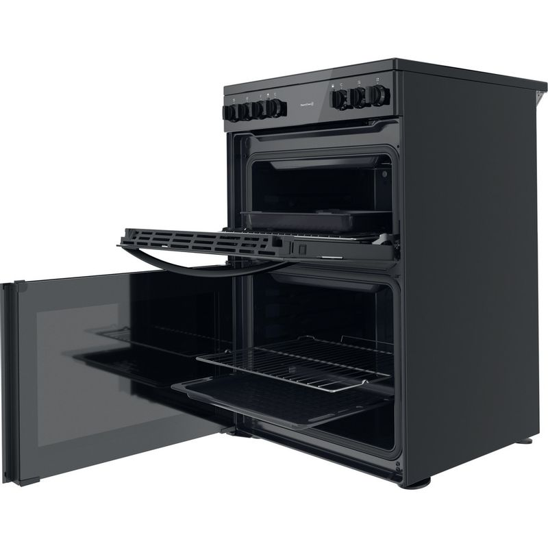 Indesit-Double-Cooker-ID67V9KMB-UK-Black-A-Perspective-open