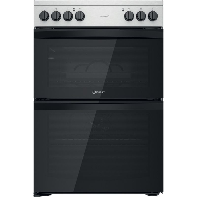 Indesit-Double-Cooker-ID67V9HCCX-UK-Inox-A-Frontal