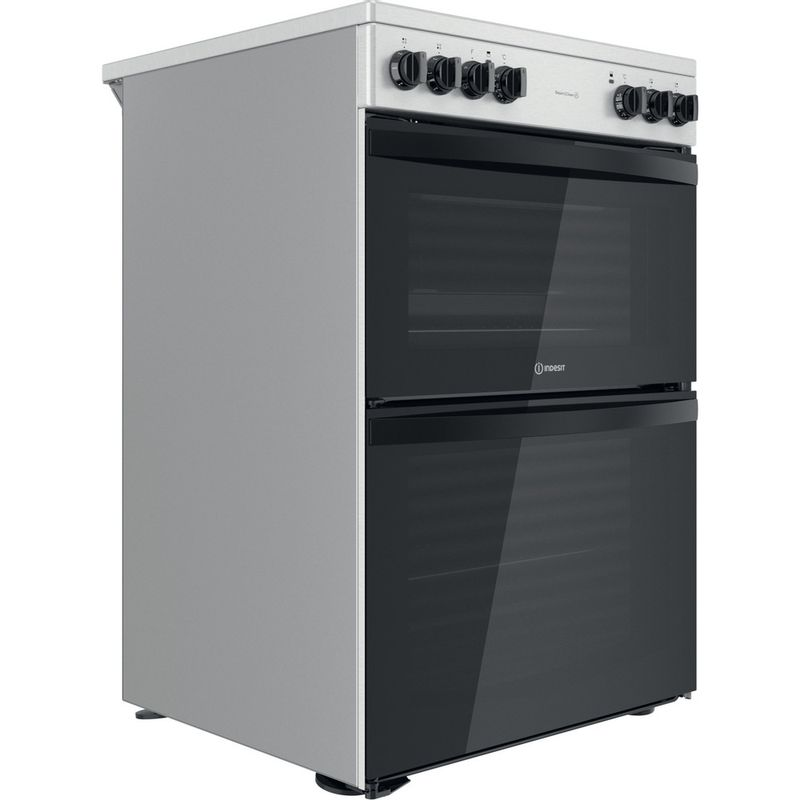Indesit-Double-Cooker-ID67V9HCCX-UK-Inox-A-Perspective