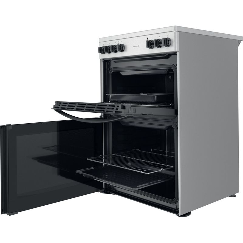 Indesit-Double-Cooker-ID67V9HCCX-UK-Inox-A-Perspective-open