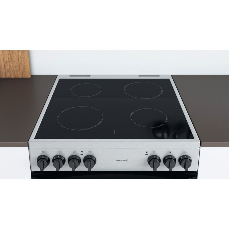 Indesit-Double-Cooker-ID67V9HCCX-UK-Inox-A-Lifestyle-frontal-top-down