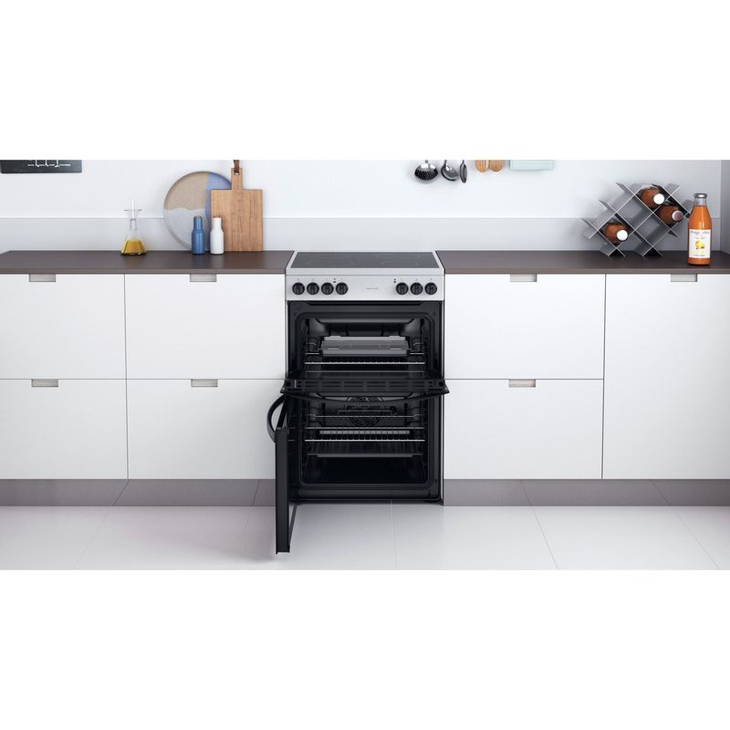 Indesit-Double-Cooker-ID67V9HCCX-UK-Inox-A-Lifestyle-frontal-open