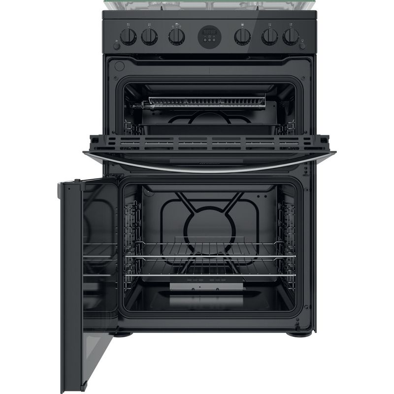 Indesit-Double-Cooker-ID67G0MCB-UK-Black-A--Frontal-open