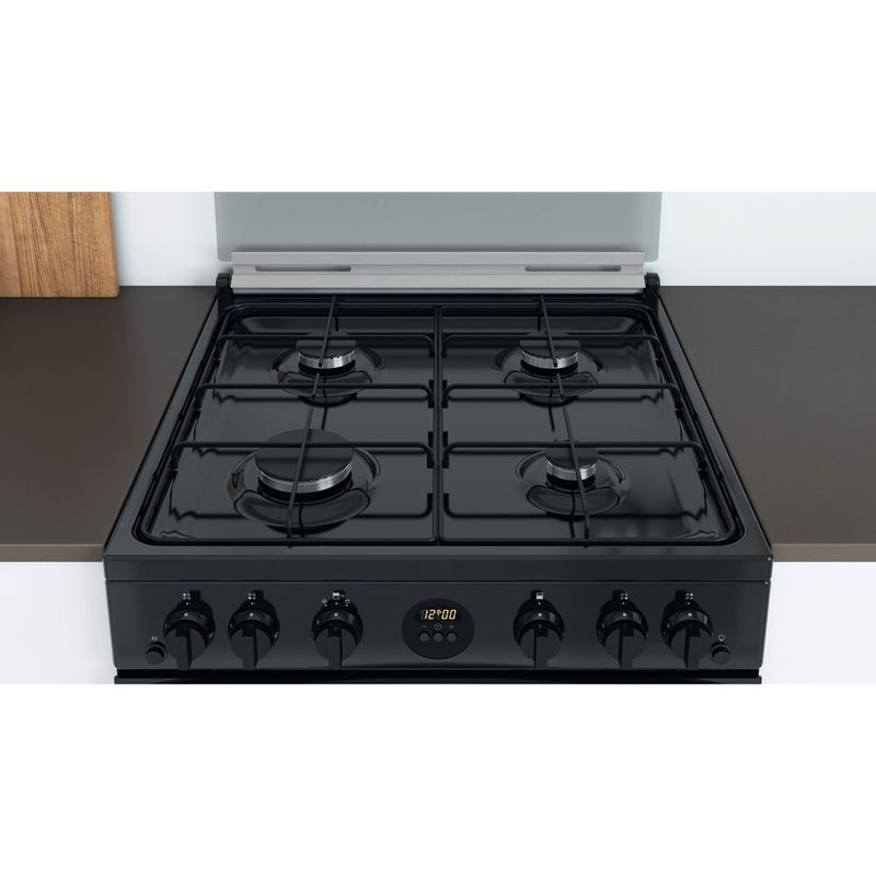 Indesit-Double-Cooker-ID67G0MCB-UK-Black-A--Lifestyle-frontal-top-down