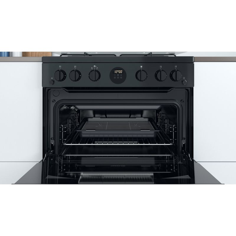 Indesit-Double-Cooker-ID67G0MCB-UK-Black-A--Cavity