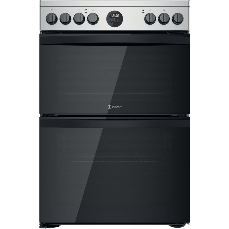 Indesit-Double-Cooker-ID67V9HCX-UK-Inox-A-Frontal