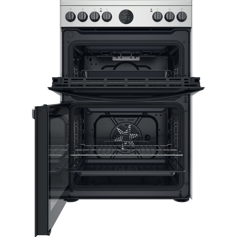 Indesit-Double-Cooker-ID67V9HCX-UK-Inox-A-Frontal-open