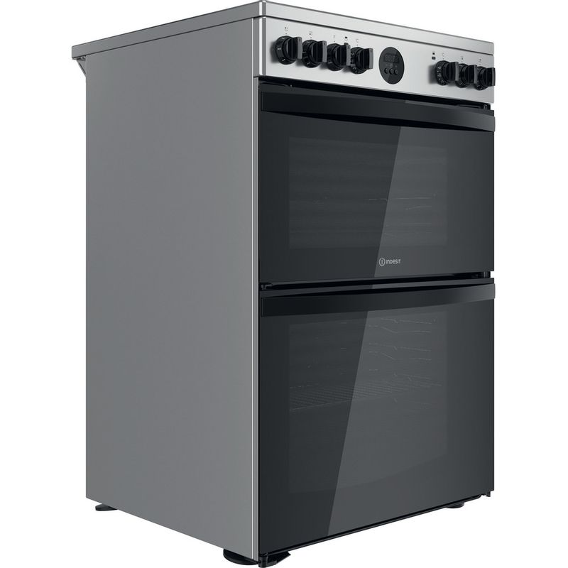 Indesit-Double-Cooker-ID67V9HCX-UK-Inox-A-Perspective