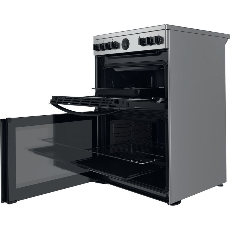 Indesit-Double-Cooker-ID67V9HCX-UK-Inox-A-Perspective-open