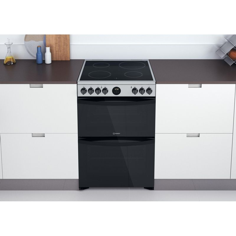 Indesit-Double-Cooker-ID67V9HCX-UK-Inox-A-Lifestyle-frontal