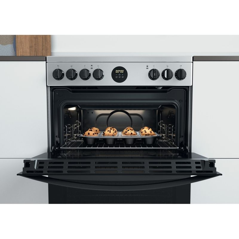 Indesit-Double-Cooker-ID67V9HCX-UK-Inox-A-Lifestyle-frontal-open