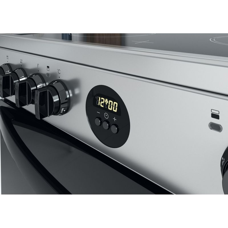 Indesit-Double-Cooker-ID67V9HCX-UK-Inox-A-Control-panel