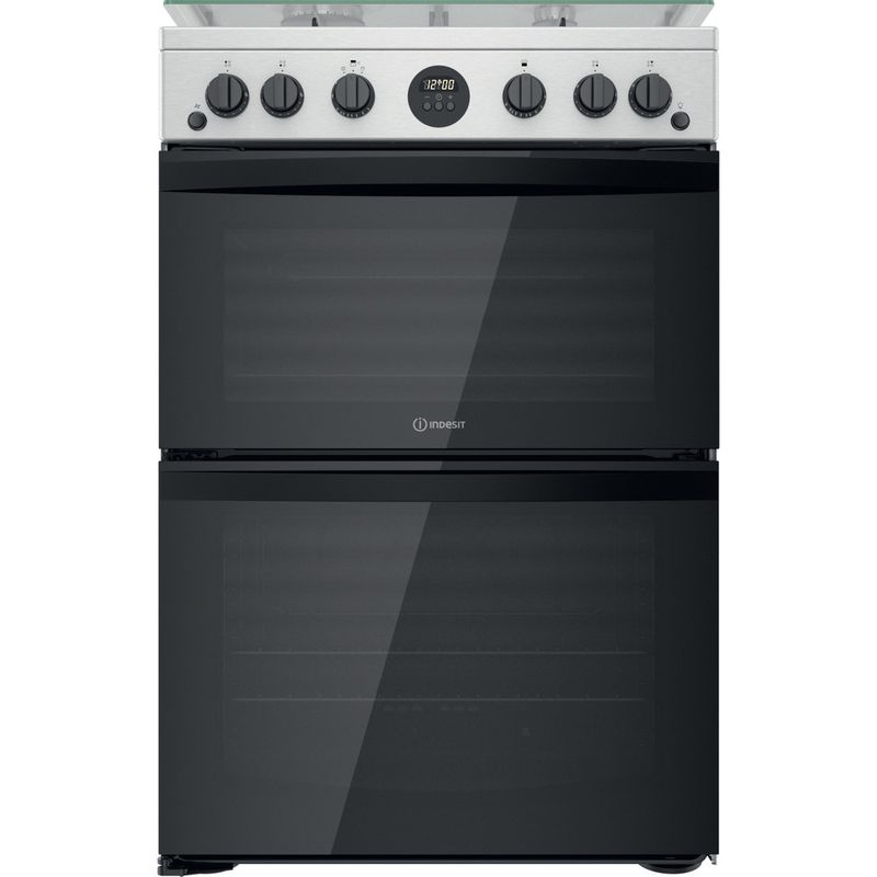 Indesit-Double-Cooker-ID67G0MCX-UK-Inox-A--Frontal