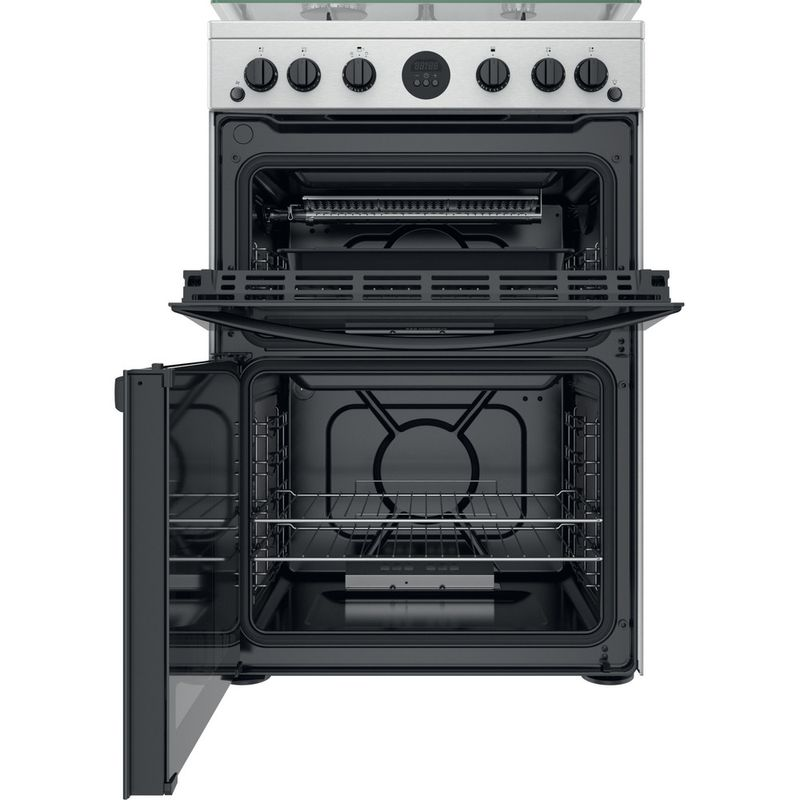 Indesit-Double-Cooker-ID67G0MCX-UK-Inox-A--Frontal-open