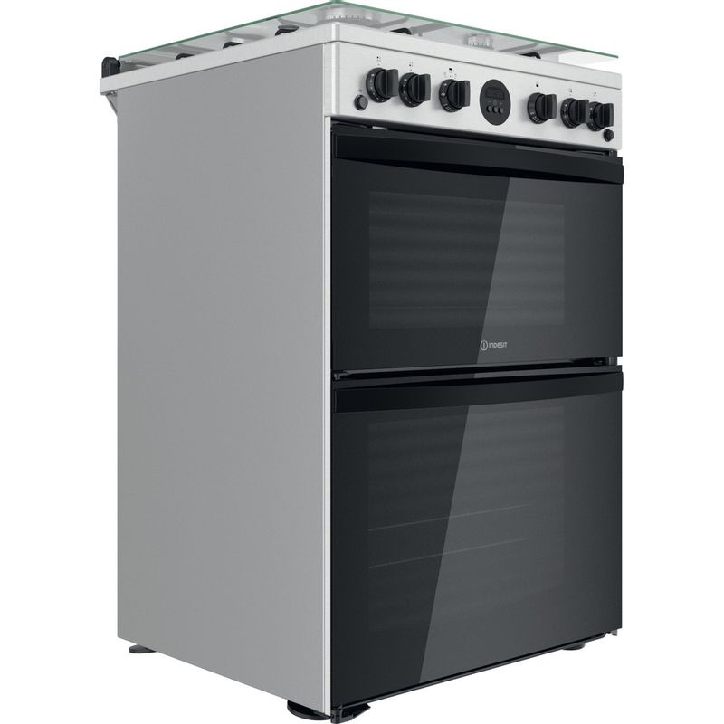 Indesit-Double-Cooker-ID67G0MCX-UK-Inox-A--Perspective