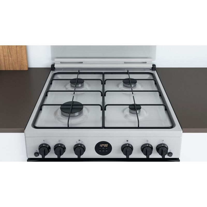 Indesit-Double-Cooker-ID67G0MCX-UK-Inox-A--Lifestyle-frontal-top-down
