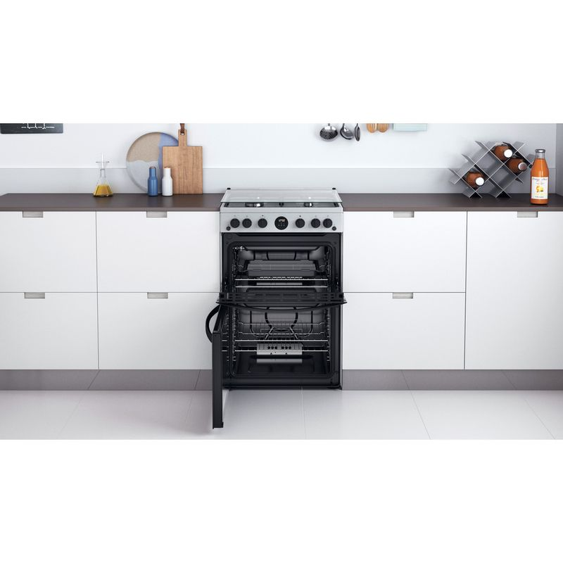Indesit-Double-Cooker-ID67G0MCX-UK-Inox-A--Lifestyle-frontal-open