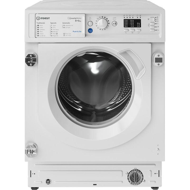 Indesit-Washer-dryer-Built-in-BI-WDIL-861284-UK-White-Front-loader-Frontal