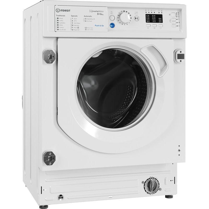 Indesit-Washer-dryer-Built-in-BI-WDIL-861284-UK-White-Front-loader-Perspective