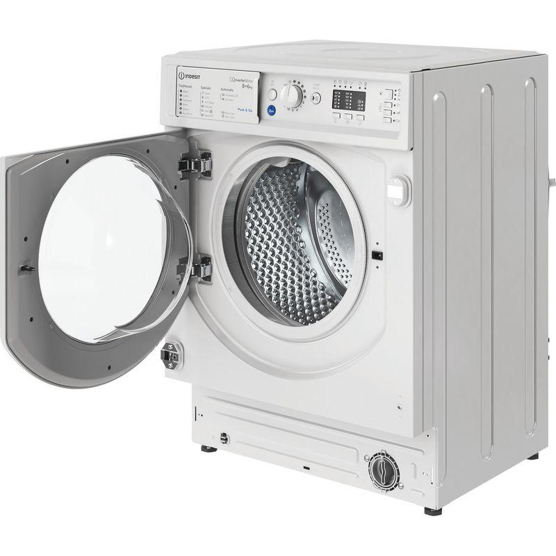 Indesit-Washer-dryer-Built-in-BI-WDIL-861284-UK-White-Front-loader-Perspective-open
