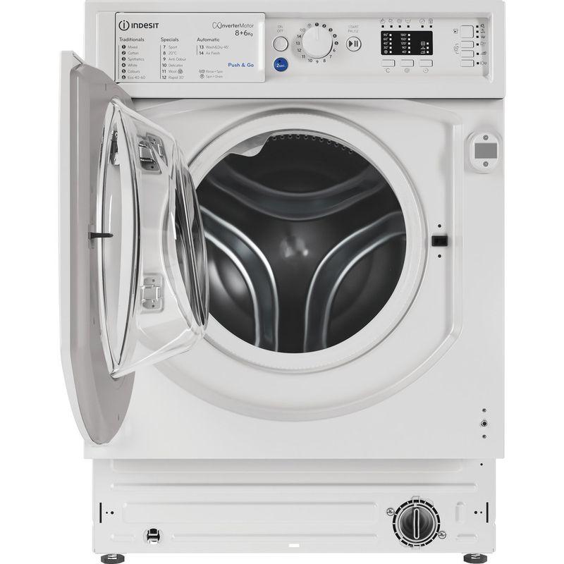 Indesit-Washer-dryer-Built-in-BI-WDIL-861284-UK-White-Front-loader-Frontal-open